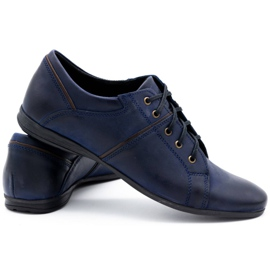 Polbut Men's shoes C25 navy blue 4