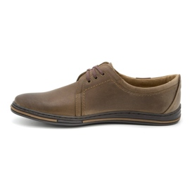 Polbut Leather shoes for men 343 brown 1