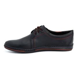 Polbut Leather shoes for men 343 black 1