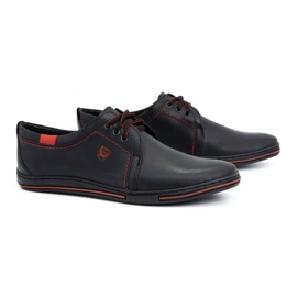 Polbut Leather shoes for men 343 black 2