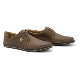 Polbut Leather shoes for men 343 brown 2