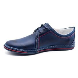 Polbut Leather men's shoes 343 navy blue 2