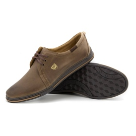 Polbut Leather shoes for men 343 brown 3