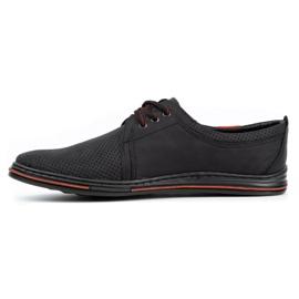 Polbut Leather men's shoes 343 perforation black 1