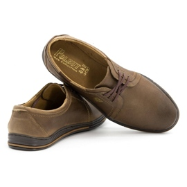 Polbut Leather shoes for men 343 brown 4