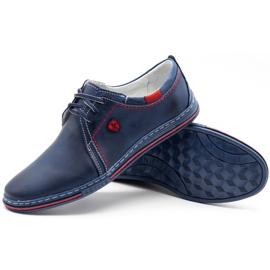 Polbut Leather men's shoes 343 navy blue 4