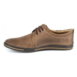 Polbut Leather men's shoes 343 perforation brown 2
