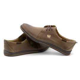 Polbut Leather shoes for men 343 brown 5
