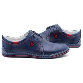 Polbut Leather men's shoes 343 navy blue 5