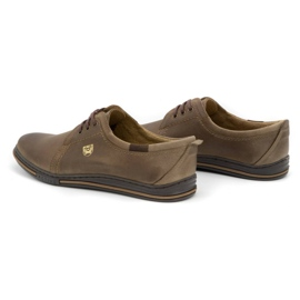 Polbut Leather shoes for men 343 brown 6