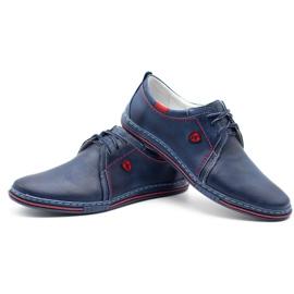 Polbut Leather men's shoes 343 navy blue 6