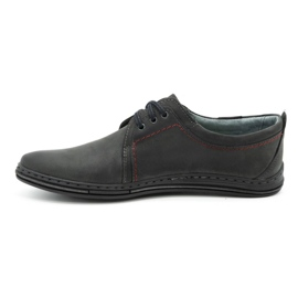 Polbut Leather shoes for men 343 gray grey 1