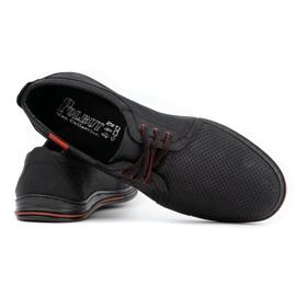Polbut Leather men's shoes 343 perforation black 4