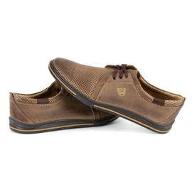Polbut Leather men's shoes 343 perforation brown 5