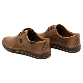Polbut Leather shoes for men 343 brown 7