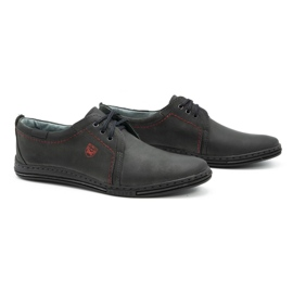 Polbut Leather shoes for men 343 gray grey 2