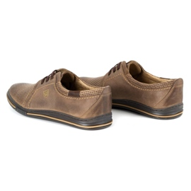 Polbut Leather men's shoes 343 perforation brown 6