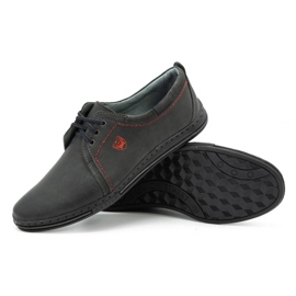 Polbut Leather shoes for men 343 gray grey 3