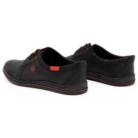 Polbut Leather men's shoes 343 perforation black 6