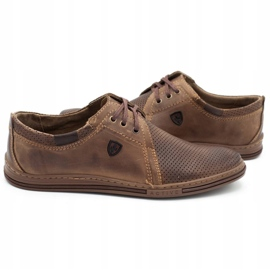Polbut Leather men's shoes 343 perforation brown 7