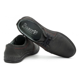 Polbut Leather shoes for men 343 gray grey 4