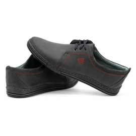 Polbut Leather shoes for men 343 gray grey 5