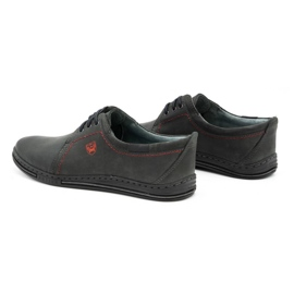 Polbut Leather shoes for men 343 gray grey 6