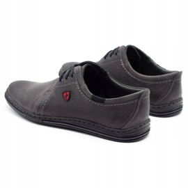 Polbut Leather shoes for men 343 gray grey 7