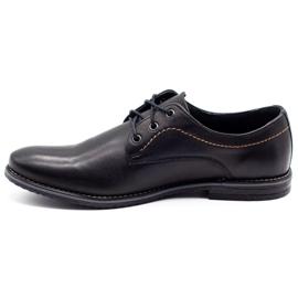 ABIS Leather men's shoes 4149 black grain 1