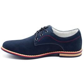 ABIS Leather men's shoes 4149 GR / B navy multicolored 1