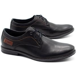 ABIS Leather men's shoes 4149 black grain 2