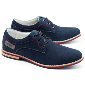 ABIS Leather men's shoes 4149 GR / B navy multicolored 2