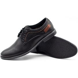ABIS Leather men's shoes 4149 black grain 3