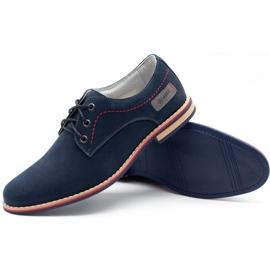 ABIS Leather men's shoes 4149 GR / B navy multicolored 3
