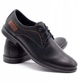 ABIS Leather men's shoes 4149 black grain 4