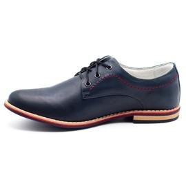 ABIS Men's leather shoes 4149 Grl navy 1
