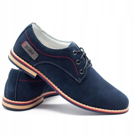ABIS Leather men's shoes 4149 GR / B navy multicolored 4