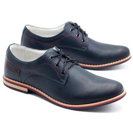 ABIS Men's leather shoes 4149 Grl navy 2