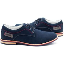 ABIS Leather men's shoes 4149 GR / B navy multicolored 5