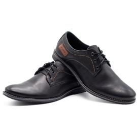ABIS Leather men's shoes 4149 black grain 6