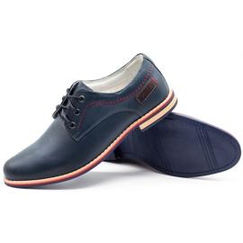 ABIS Men's leather shoes 4149 Grl navy 3