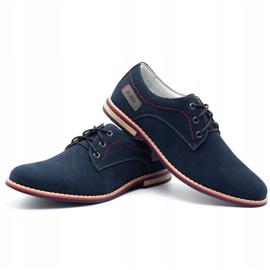 ABIS Leather men's shoes 4149 GR / B navy multicolored 6
