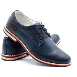 ABIS Men's leather shoes 4149 Grl navy 4