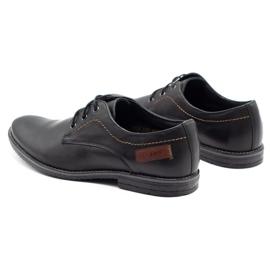 ABIS Leather men's shoes 4149 black grain 7