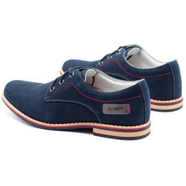ABIS Leather men's shoes 4149 GR / B navy multicolored 7
