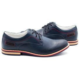 ABIS Men's leather shoes 4149 Grl navy 5