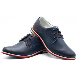 ABIS Men's leather shoes 4149 Grl navy 6