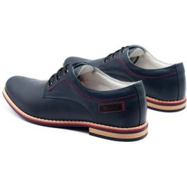 ABIS Men's leather shoes 4149 Grl navy 7