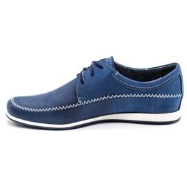 Polbut Leather men's shoes C22 navy blue 1