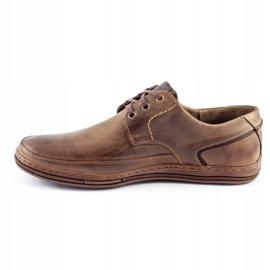 Polbut Leather men's shoes J44 Brown 1